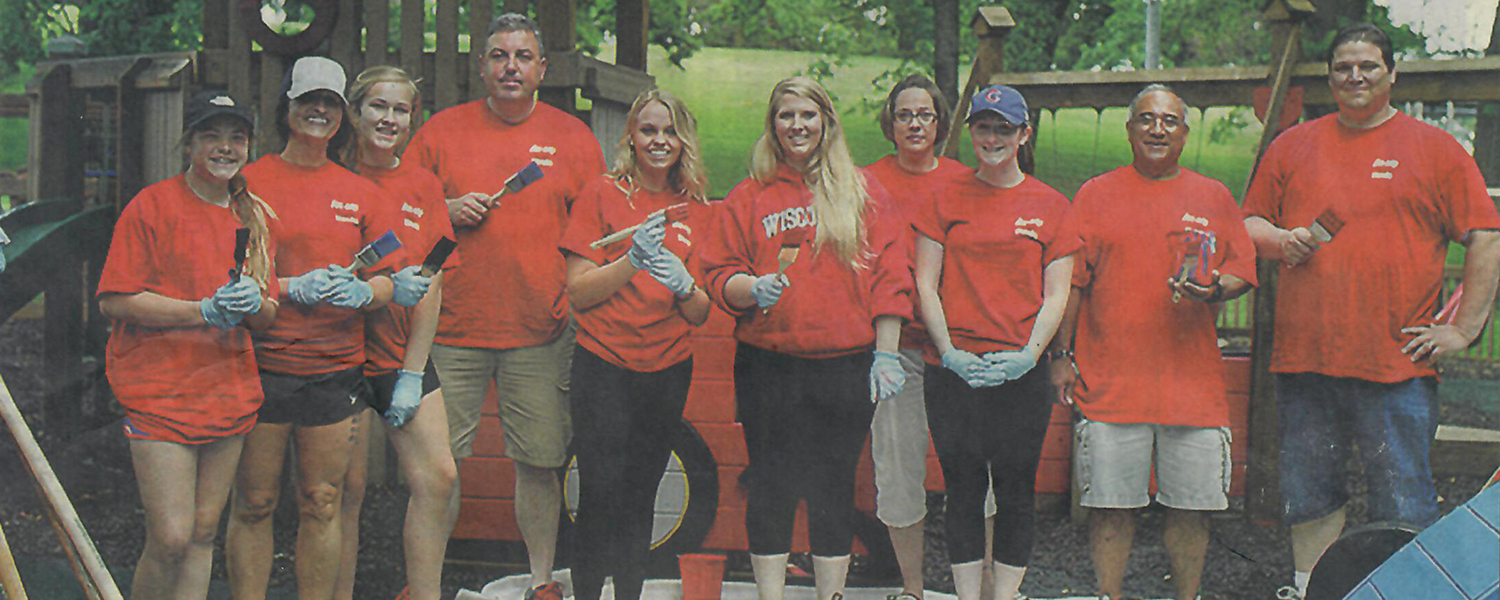 Wilde East Towne Honda Employees And Their Children Came To The Sun Prairie Dream Park To Help Add Some Color To The Playground.