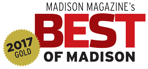 Madison Magazine's Best of Madison 2017 Gold award logo
