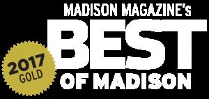 Madison Magazine's Best of Madison 2017 Gold award logo