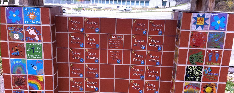 Veterans Display Board At The Dream Park