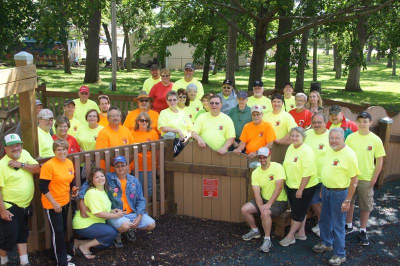 Group of volunteers at Sun Prairie Dream Park