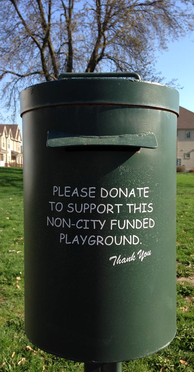 Please donate to support this non-city funded playground.